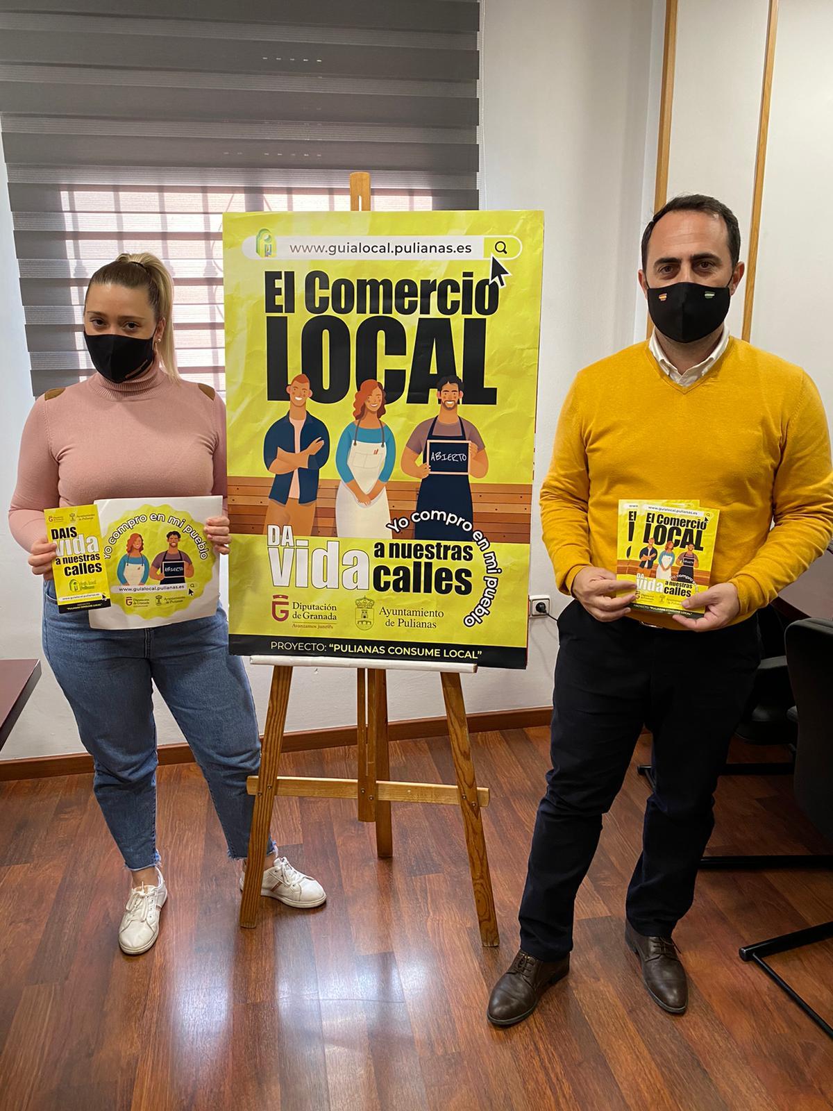 Pulianas inicia una campaña de apoyo al comercio local