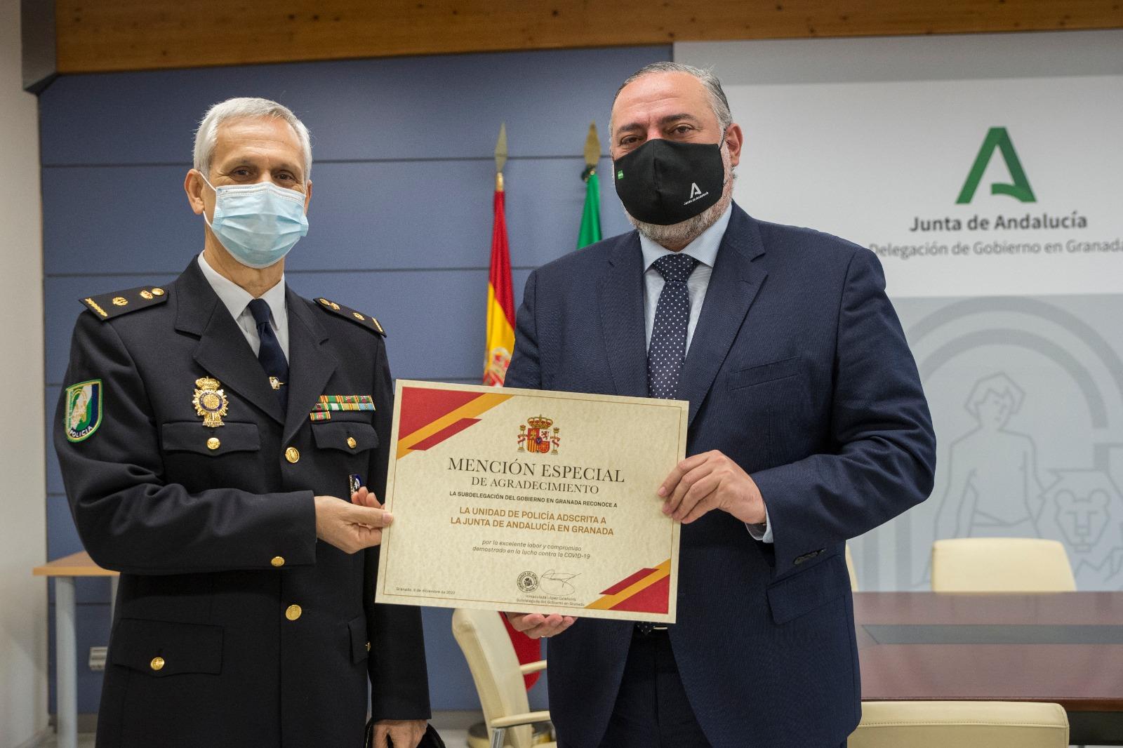 La Policía Autonómica recibe la mención de agradecimiento por su trabajo contra la Covid-19