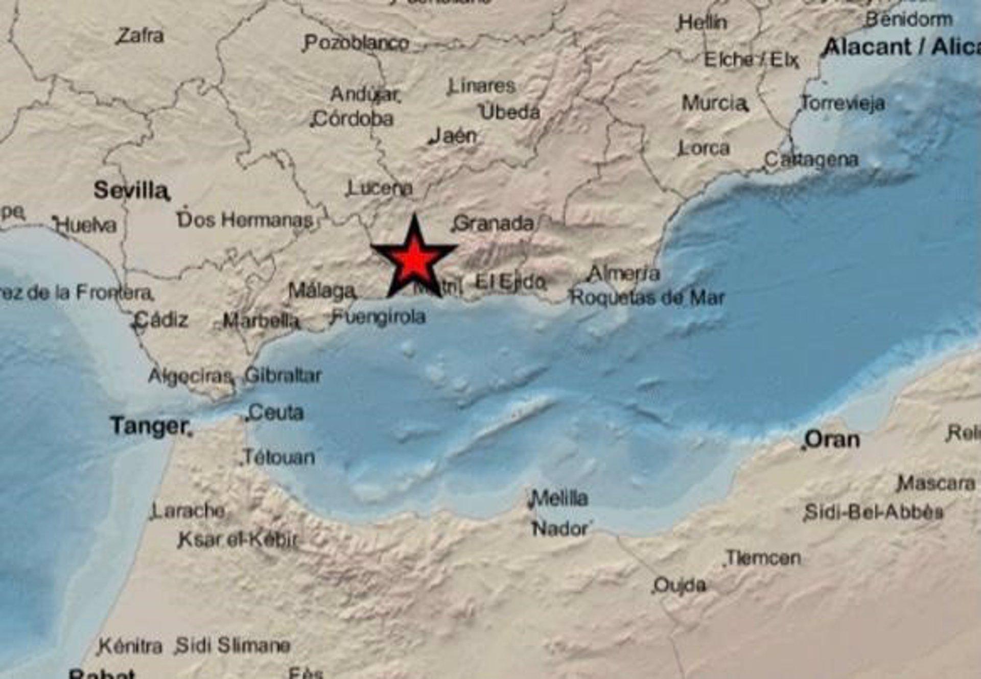 Registrado un terremoto de 2,2 grados con epicentro en Arenas del Rey