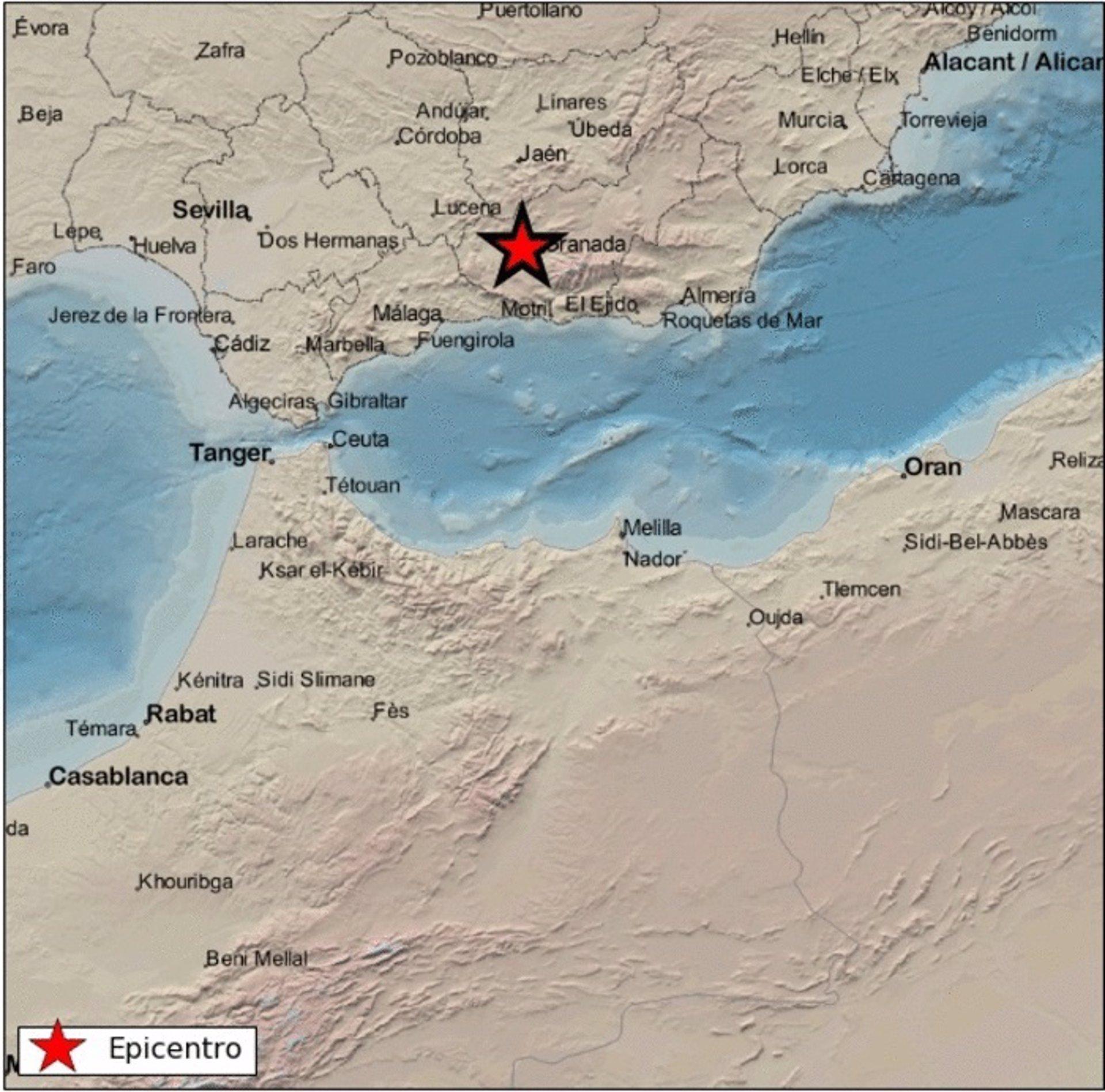 Registrado un terremoto de 3,5 grados al noroeste de Chauchina