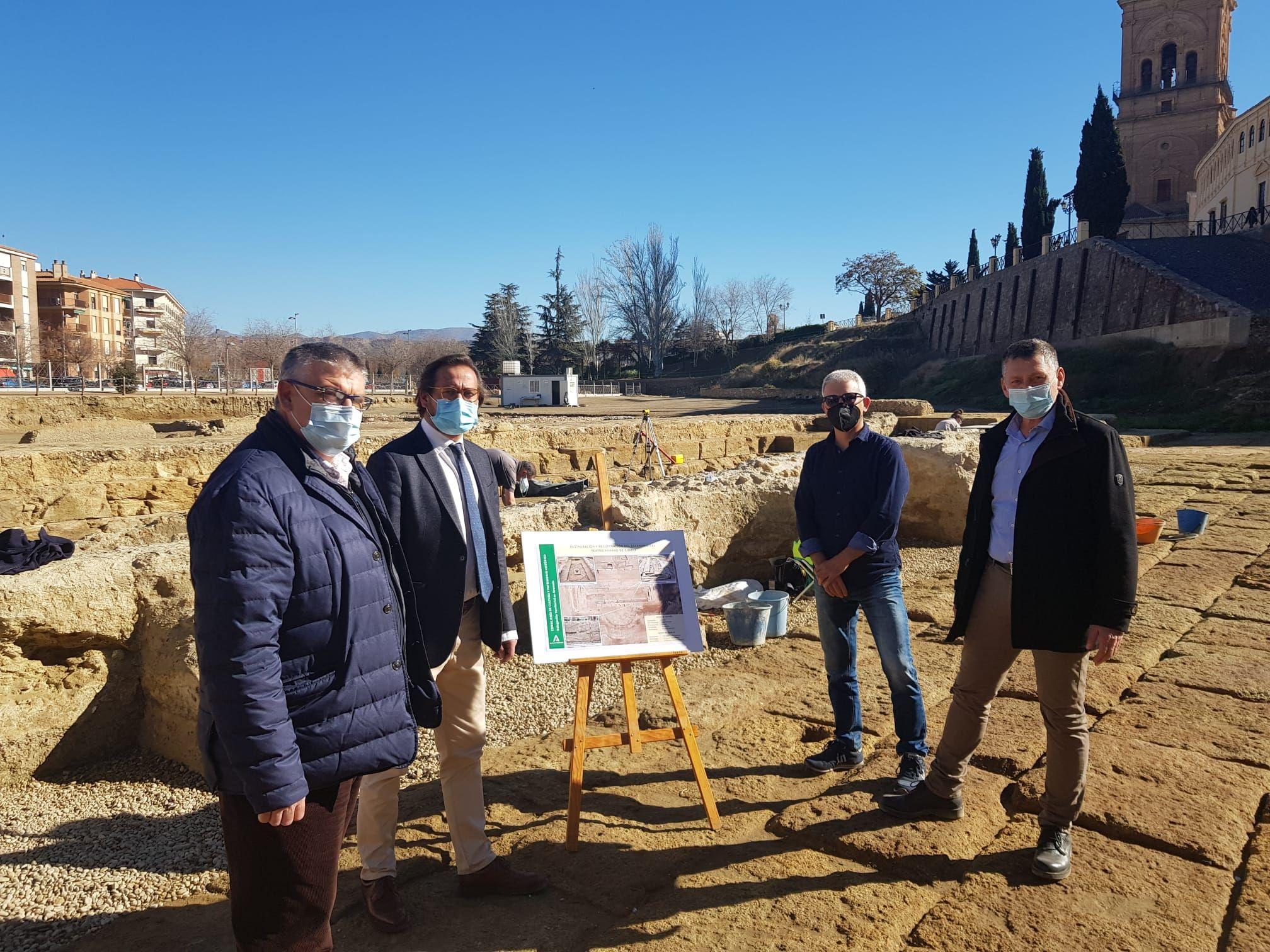 Cultura y Patrimonio Histórico invierte 30.000 euros en las obras de conservación del teatro romano de Guadix