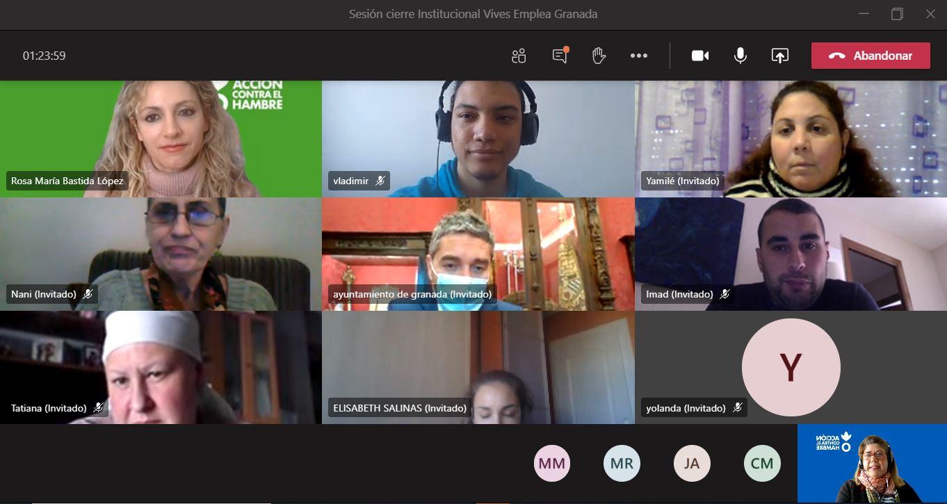 Clausurado el proyecto «Vives Empleo Granada» para personas en riesgo de exclusión