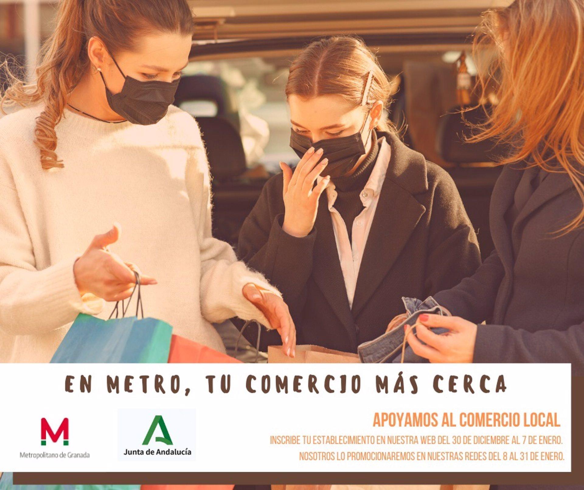 Campaña publicitaria de Metro Granada para la promoción del comercio local
