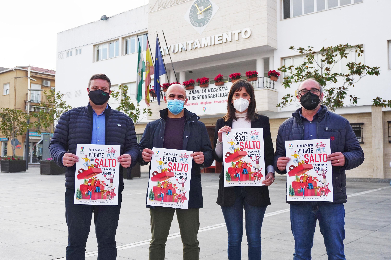 """""""Esta Navidad pégate un salto y compra en Armilla"""", campaña municipal en apoyo al comercio local"""
