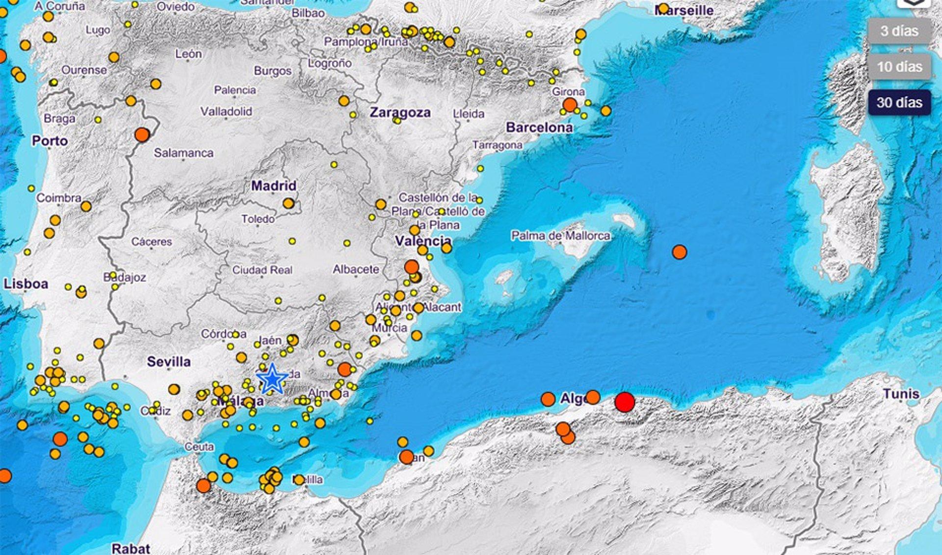 La Junta constata que la Cuenca de Granada es «una de las zonas de mayor actividad sísmica de la Península»