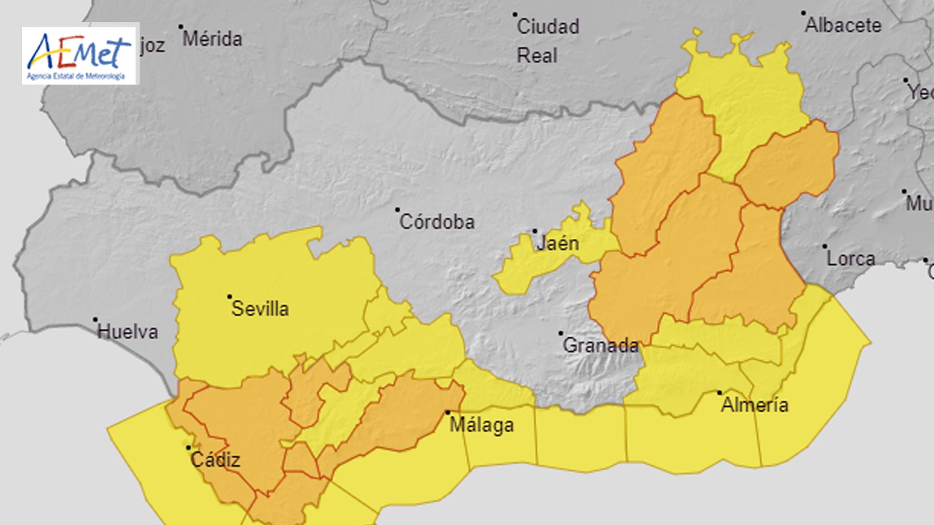 Se mantiene el aviso naranja por nieve hasta el 7 de enero en las comarcas de Guadix y Baza