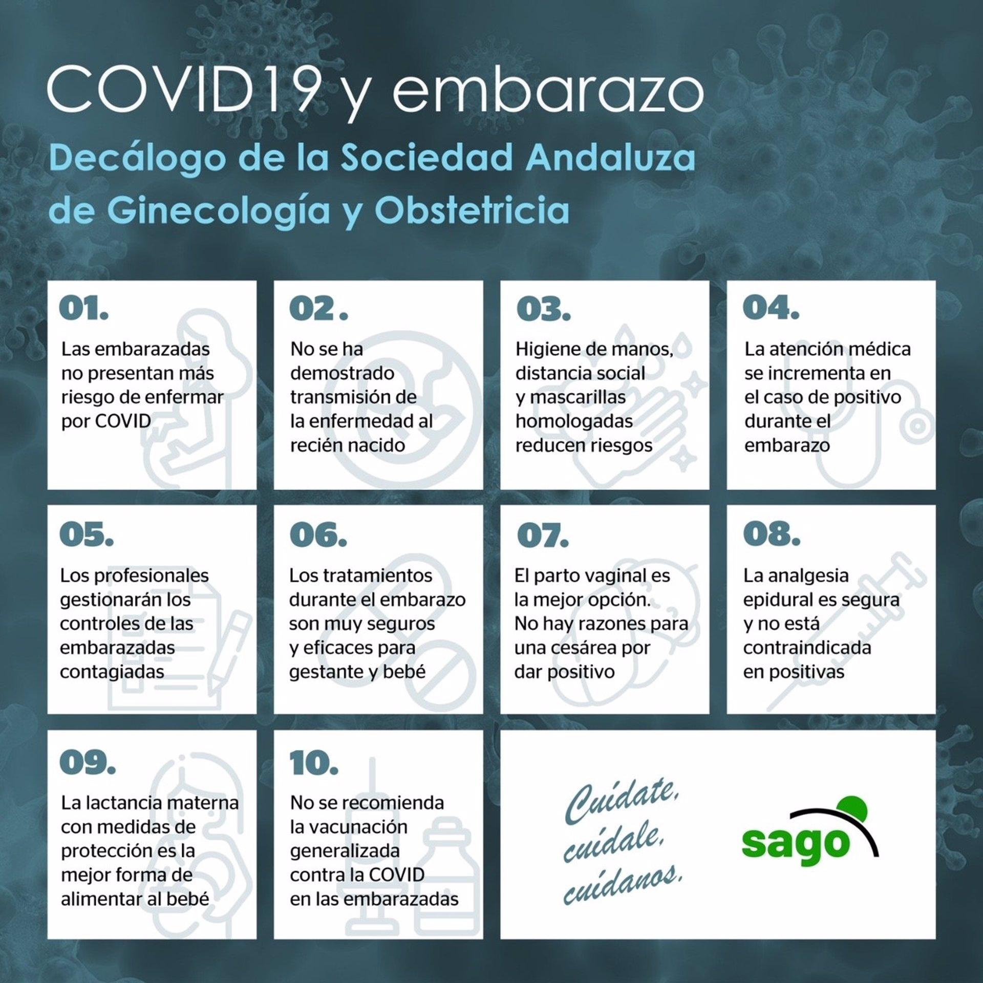 Ginecólogos y obstetras publican un decálogo de recomendaciones sobre embarazo y Covid