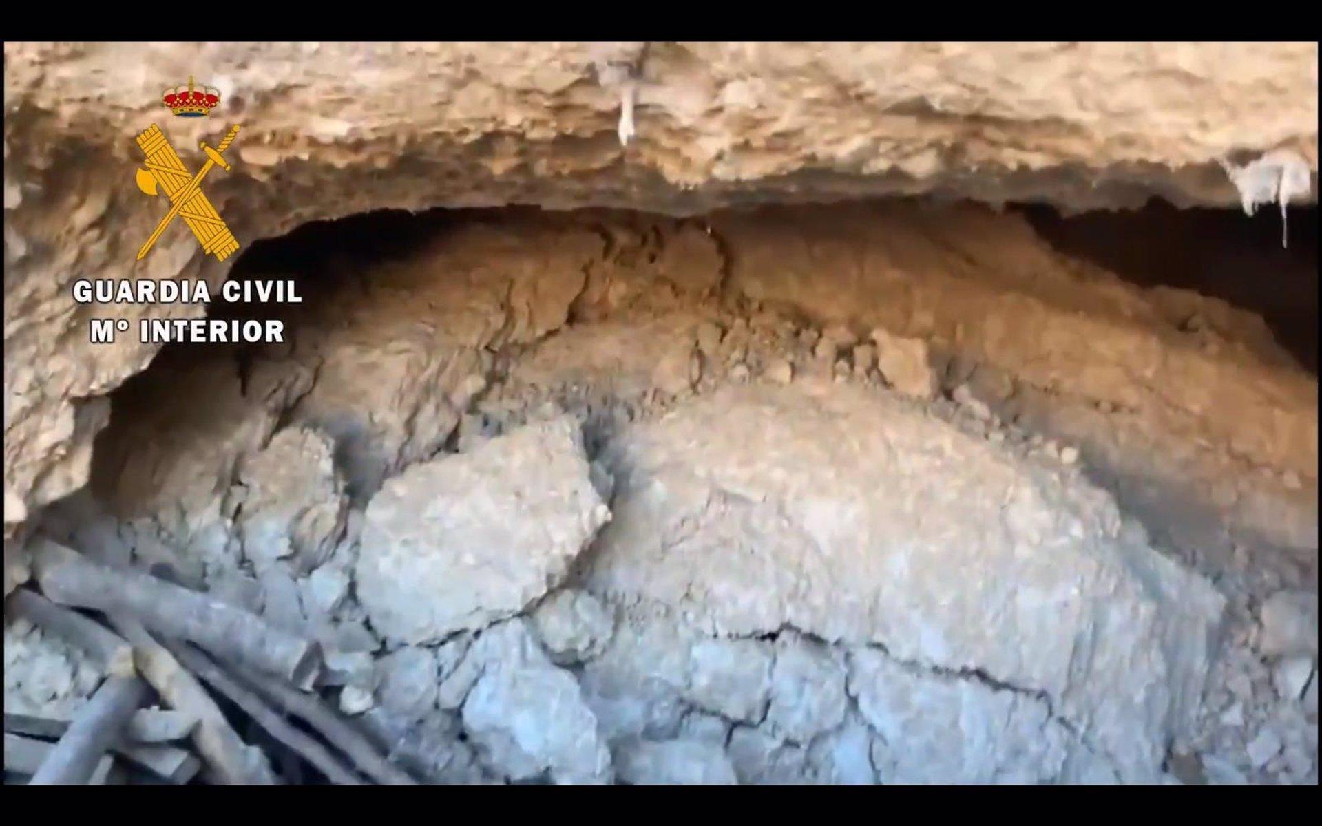 Investigan la muerte del hombre fallecido al derrumbarse una cueva en Cortes de Baza