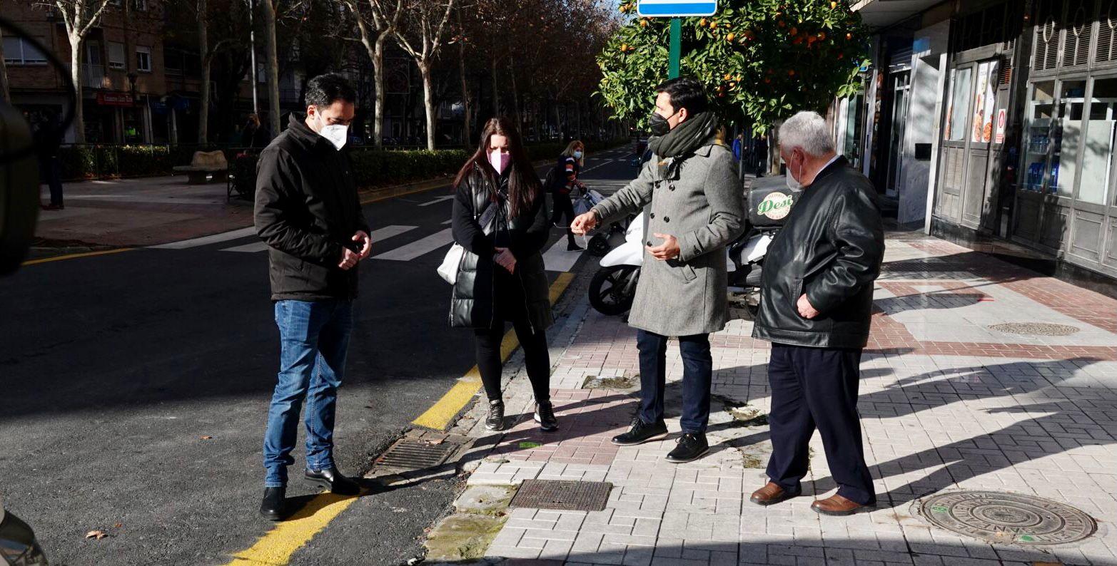 El PSOE considera «una chapuza» las obras de Don Bosco por el estado del acerado
