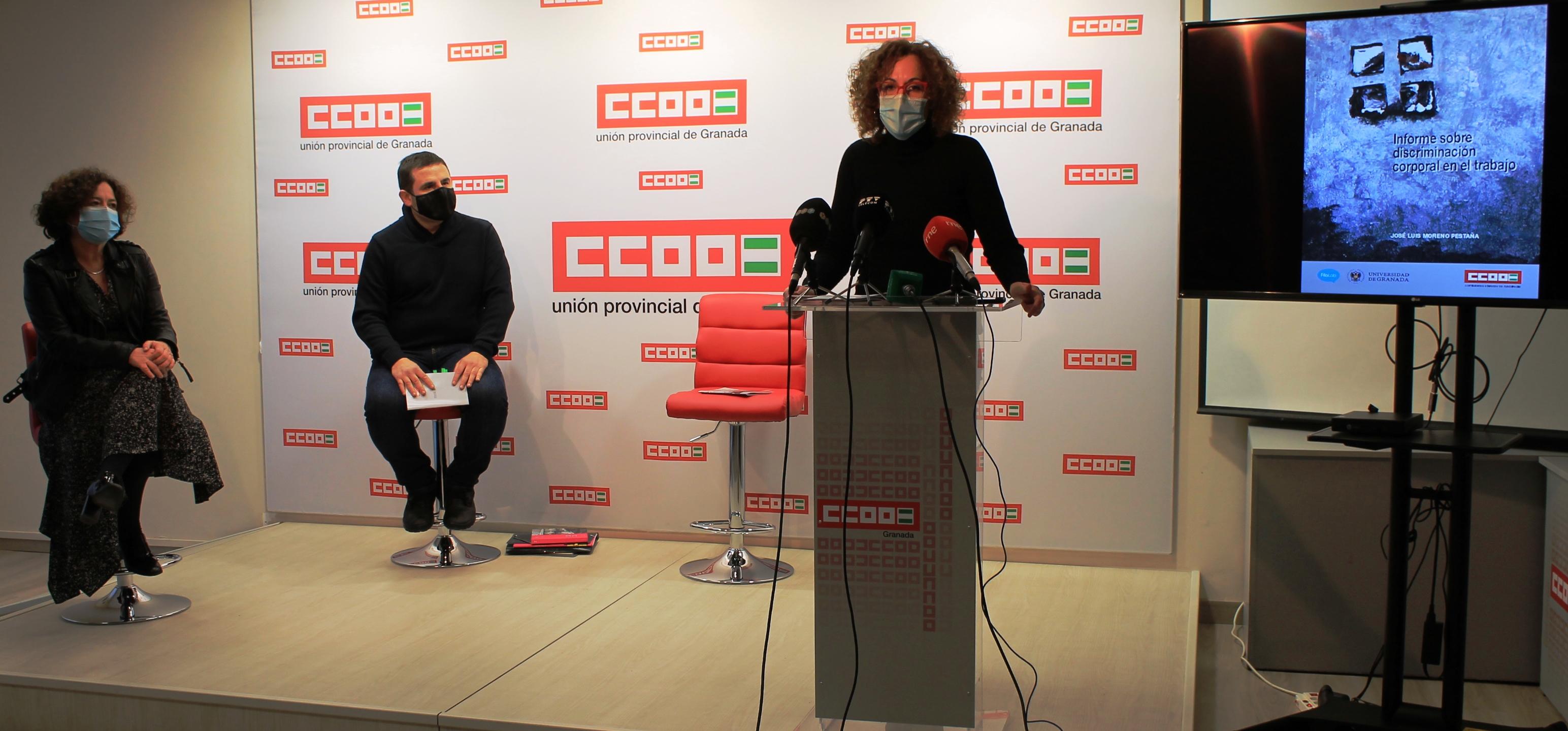 CCOO reivindica al Gobierno andaluz más medios para visualizar la discriminación corporal en el trabajo y crear conciencia para combatirla