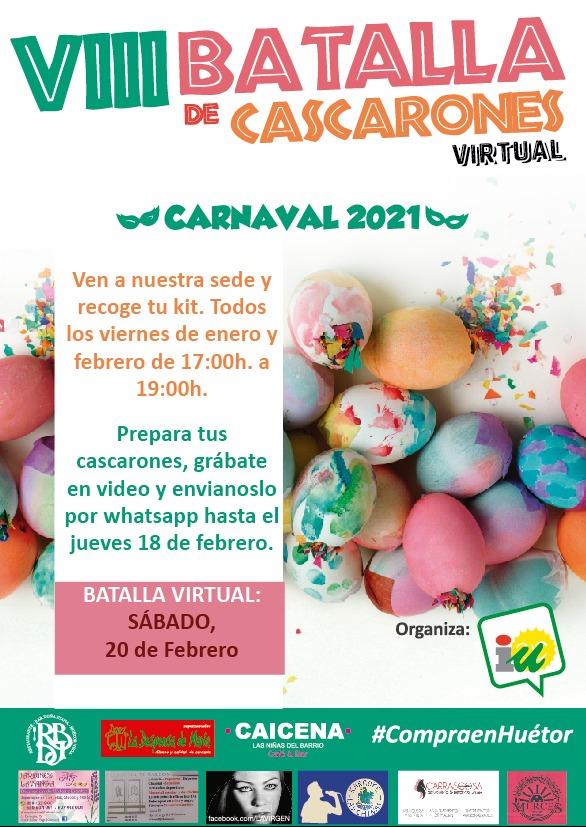 """IU Huétor Vega organiza su peculiar """"Batalla de Cascarones online"""""""