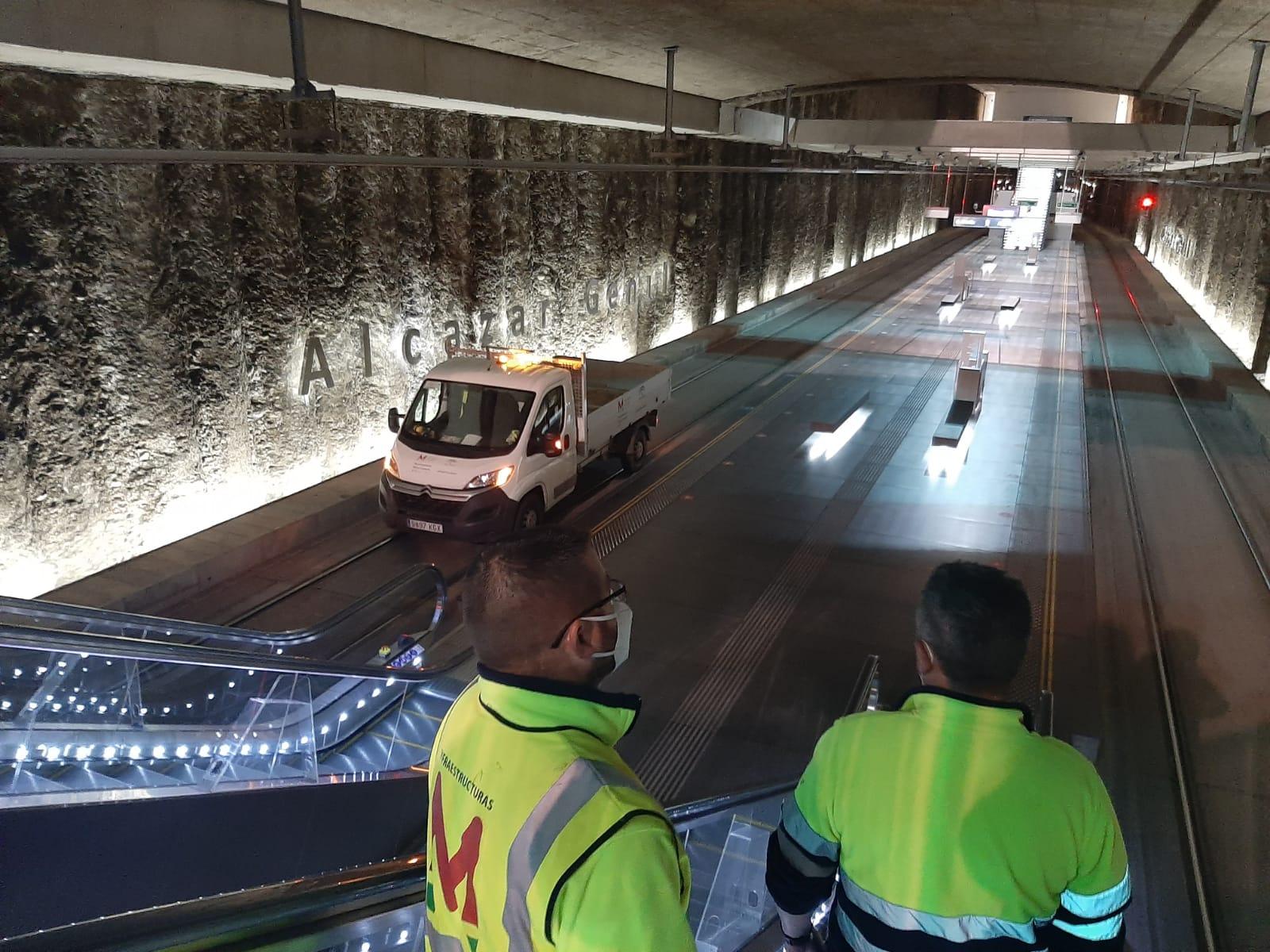 El Metro no detecta daños ni en la línea ni en el túnel tras los terremotos de anoche
