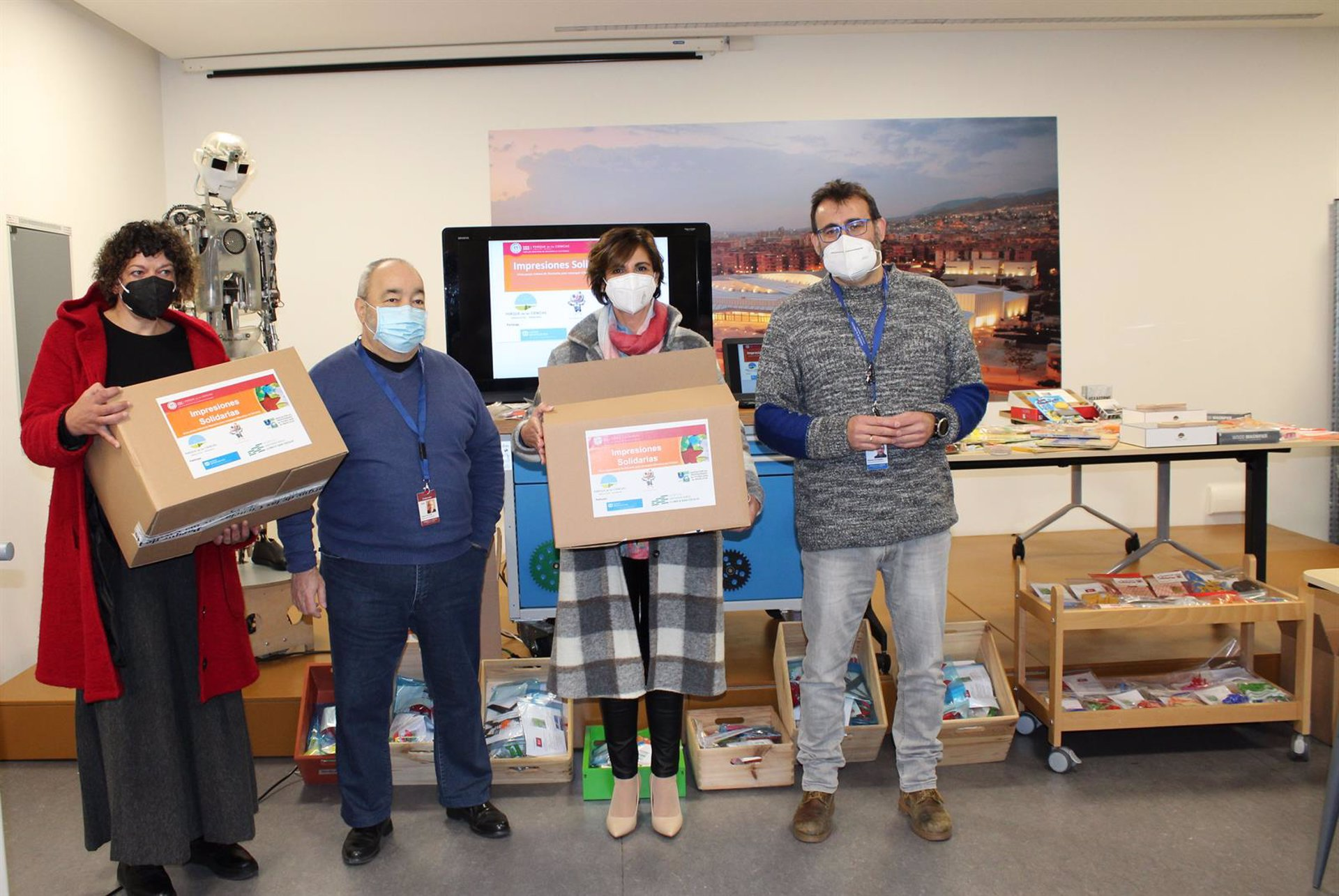 El Parque de las Ciencias participa en la impresión 3D de más de mil juguetes solidarios