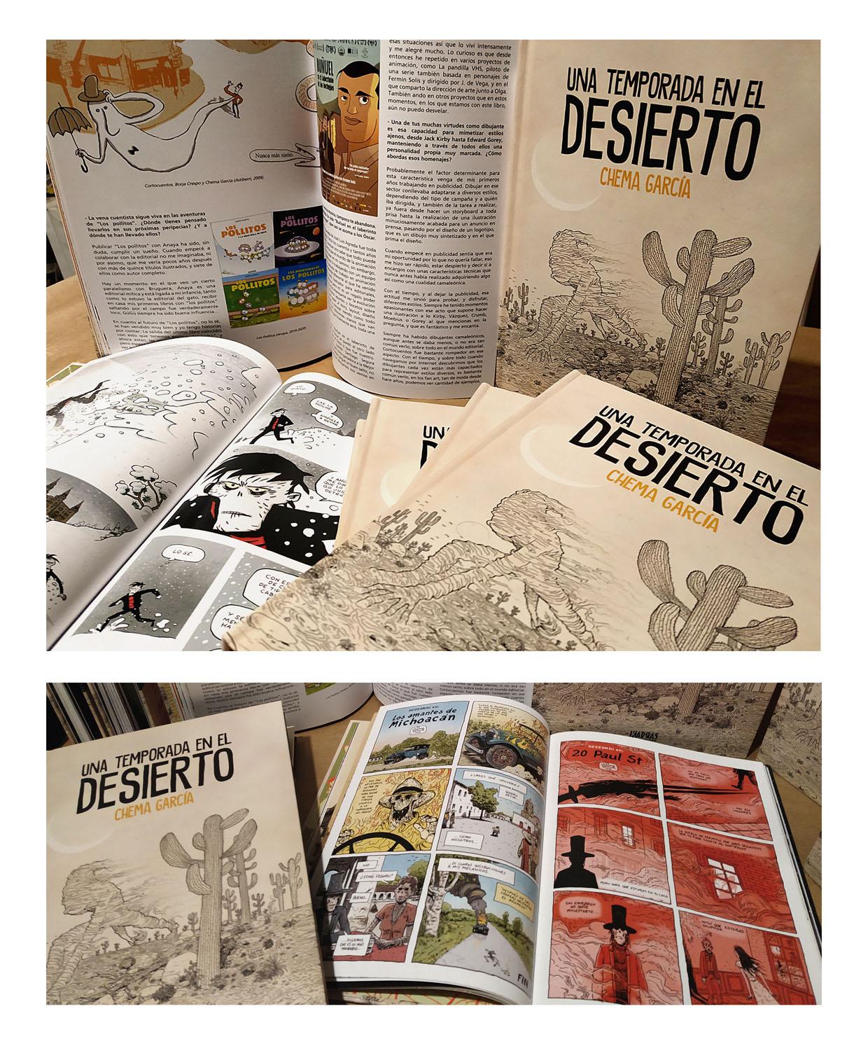 El dibujante granadino Chema García publica el libro «Una temporada en el desierto»