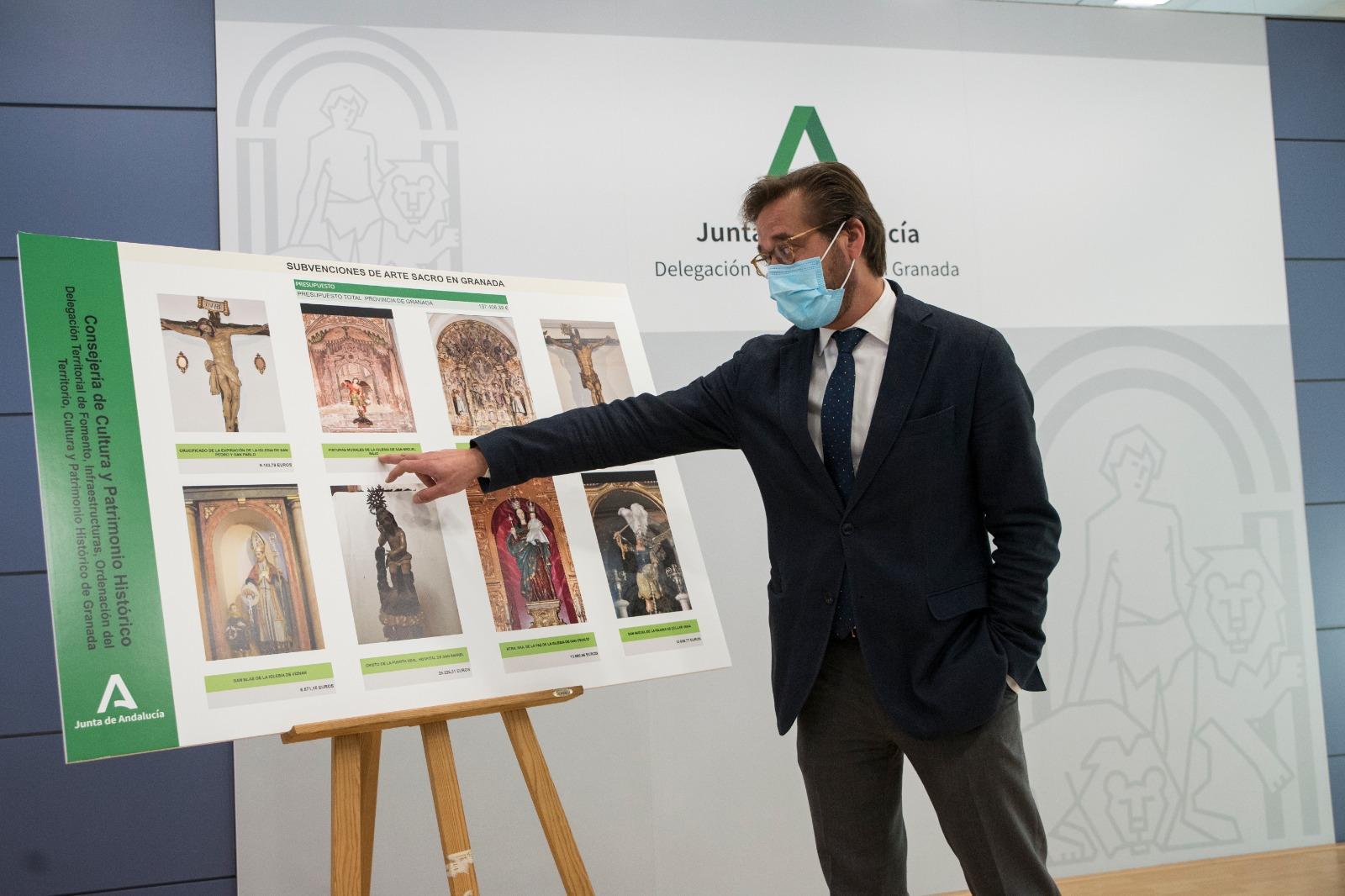 Cultura y Patrimonio Histórico subvenciona ocho proyectos de restauración y uno de catalogación de arte sacro con 151.000 euros