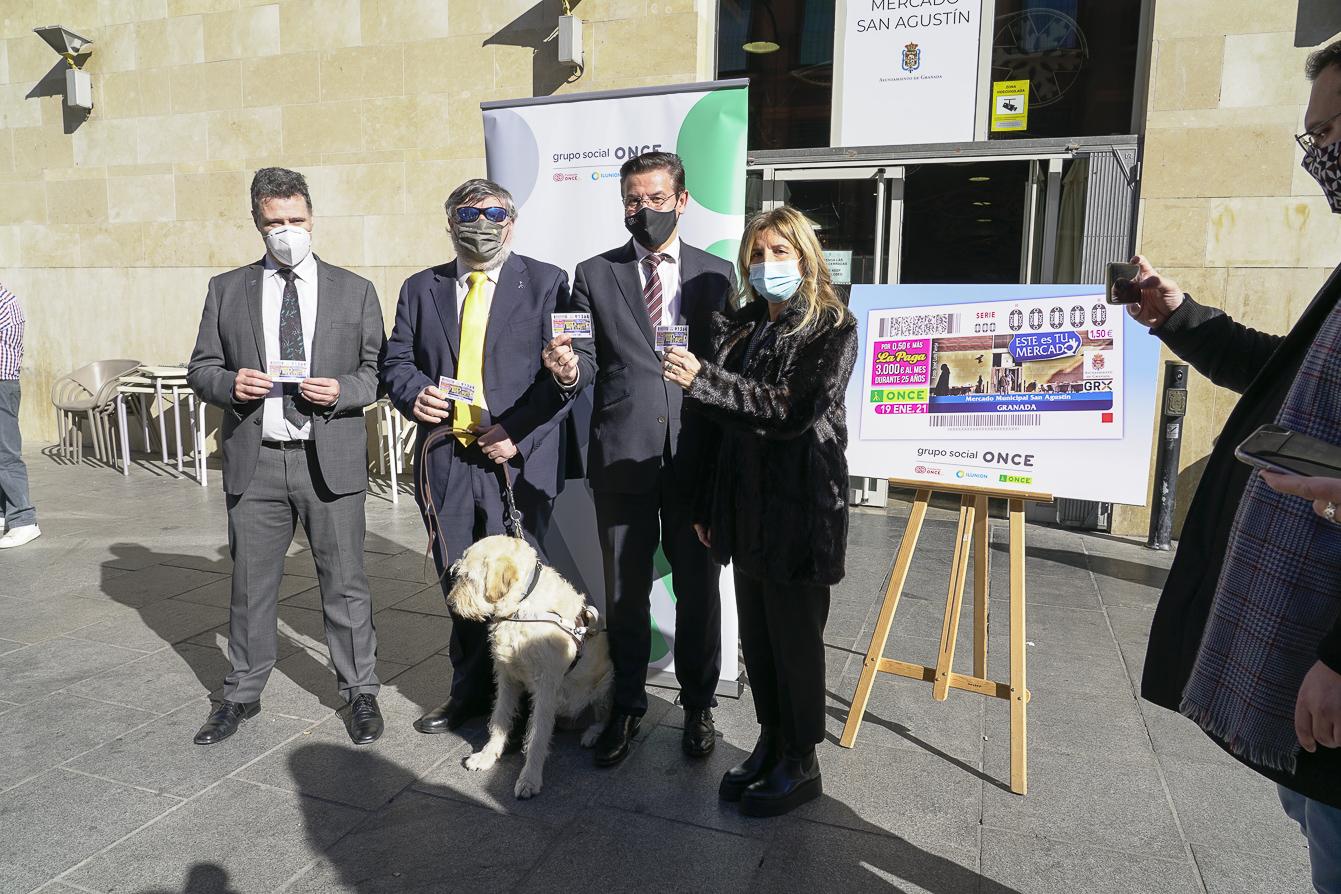 La ONCE dedicará el cupón del 19 de enero al Mercado de San Agustín