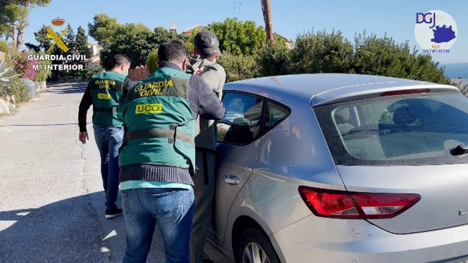 Detenido en Almuñécar el presunto líder de una organización criminal de tráfico de cocaína de Bélgica