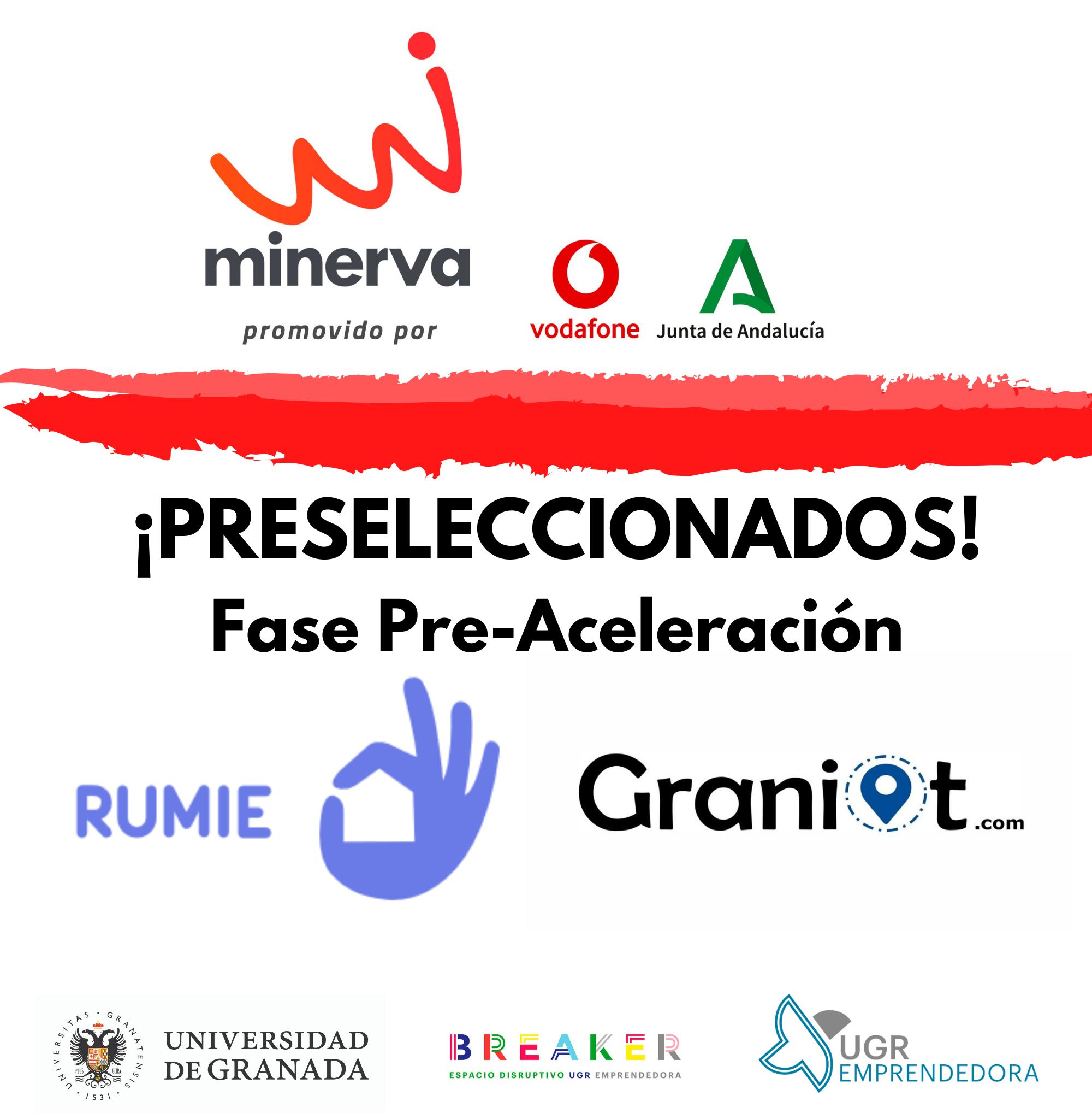 Dos startups alojadas en BREAKER, Centro de Emprendimiento de la UGR, seleccionadas en el Programa Minerva 2021