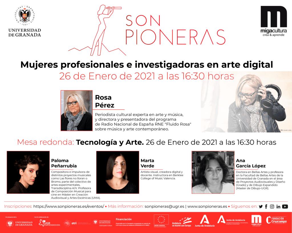 """El proyecto Son Pioneras reúne a """"Mujeres profesionales e investigadoras en arte digital"""" en una jornada virtual"""
