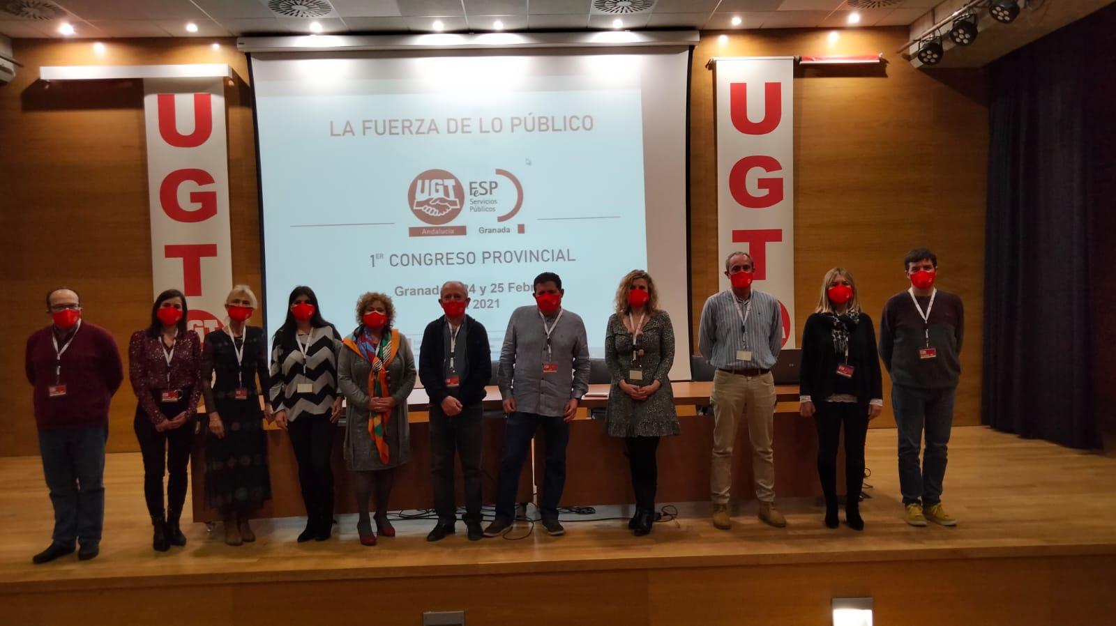 Luis Miguel Gutiérrez revalida su liderazgo al frente de los Servicios Públicos de UGT Granada