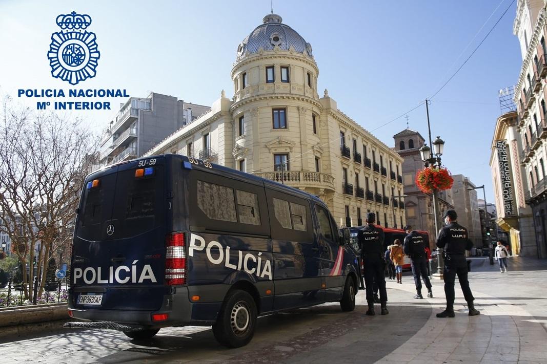 En enero la Policía Nacional realizó 50 actuaciones por aglomeraciones en Granada con más de 50 personas propuestas para sanción