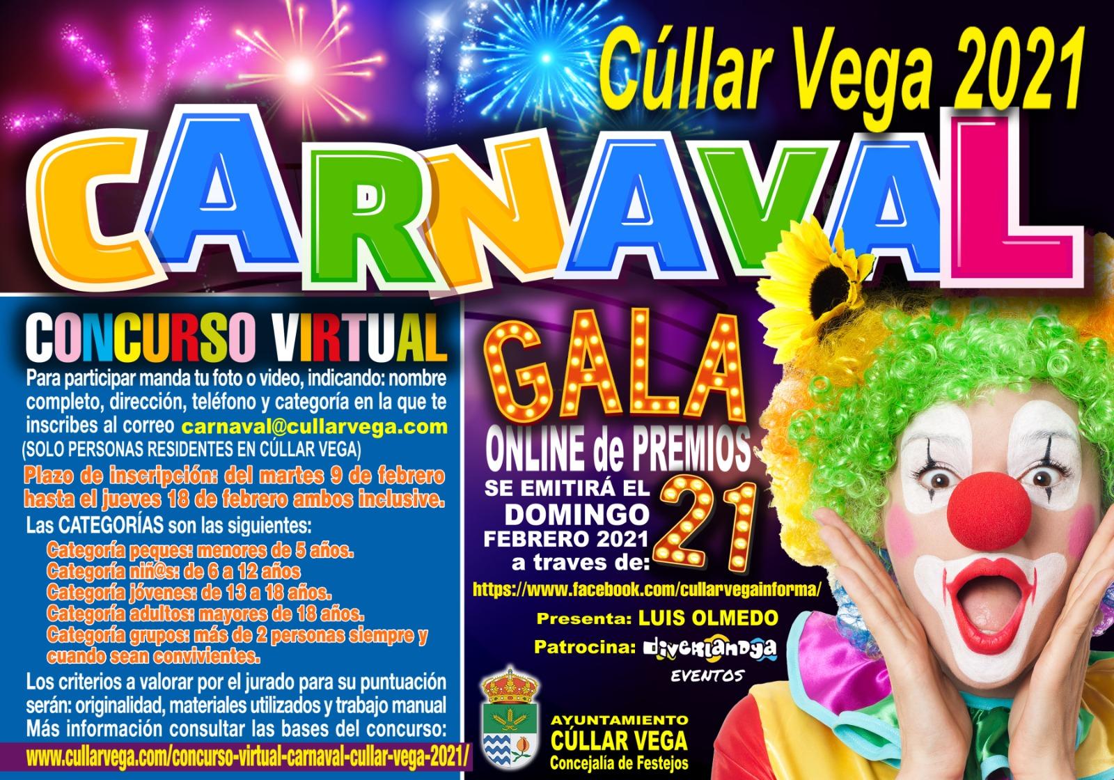 Cúllar Vega celebrará su Carnaval 'on line' con premios para los mejores disfraces