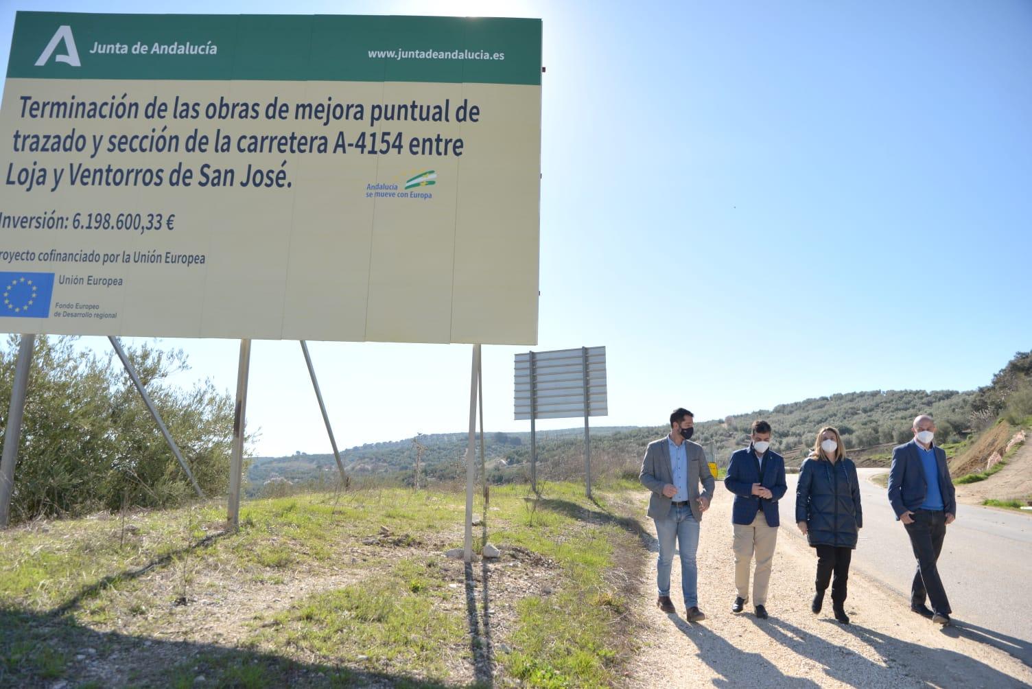 Arranca la mejora de la carretera entre Loja y Ventorros con una inversión de 8,2 millones