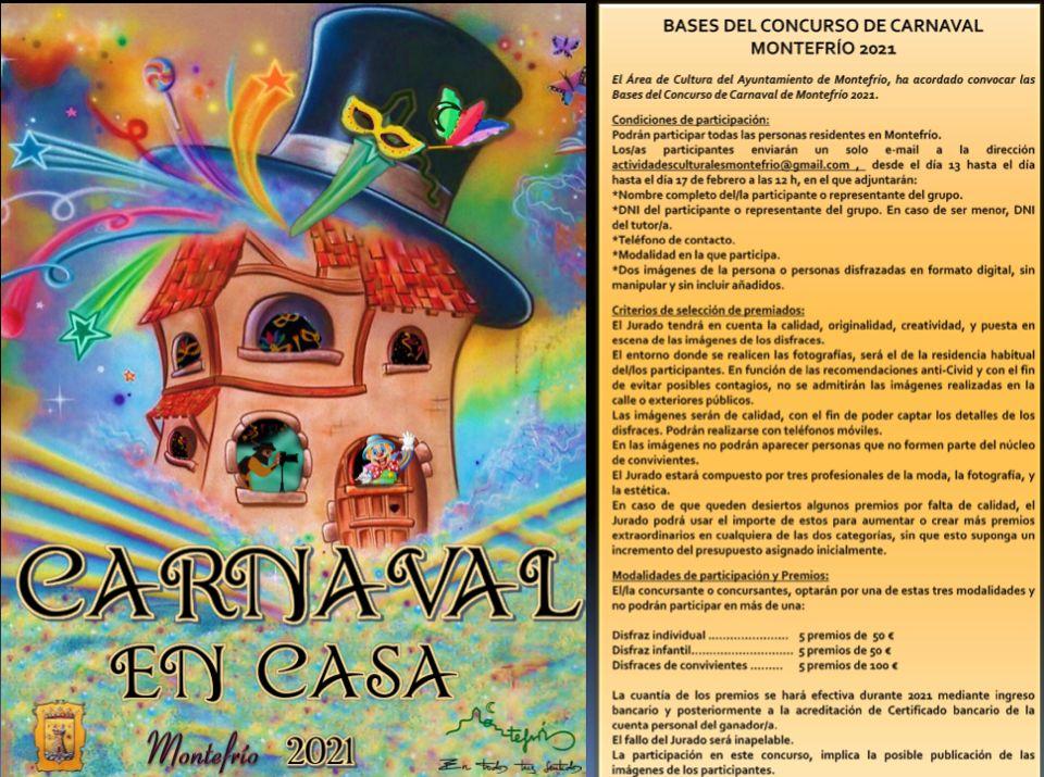 Montefrío organiza el'carnaval en casa' y repartirá mil euros en premios a los mejores disfraces