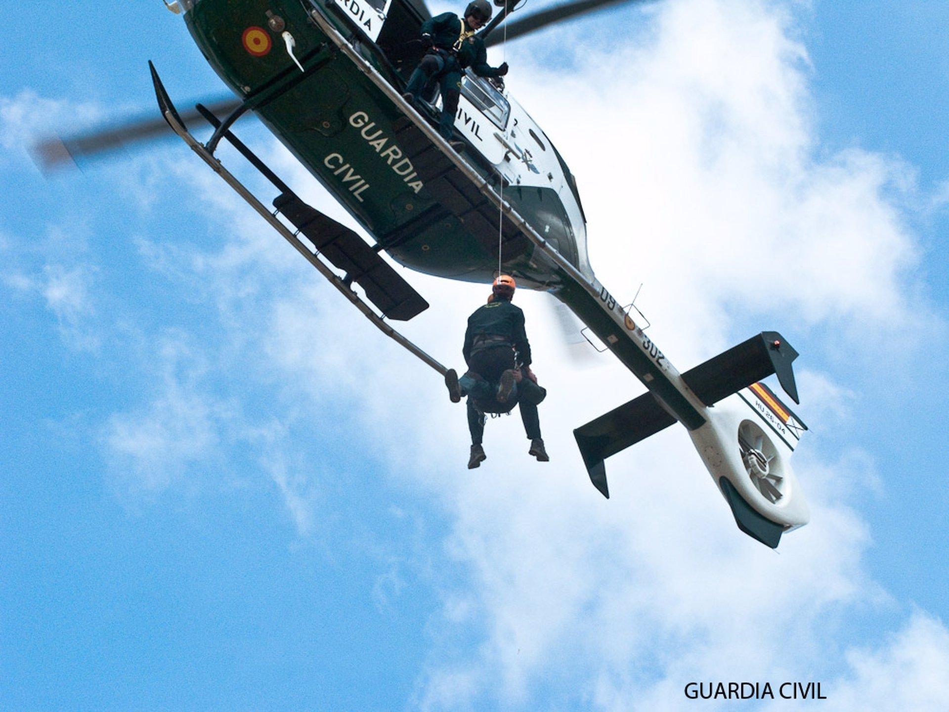 Rescatado en helicóptero un senderista tras sufrir una caída en Capileira