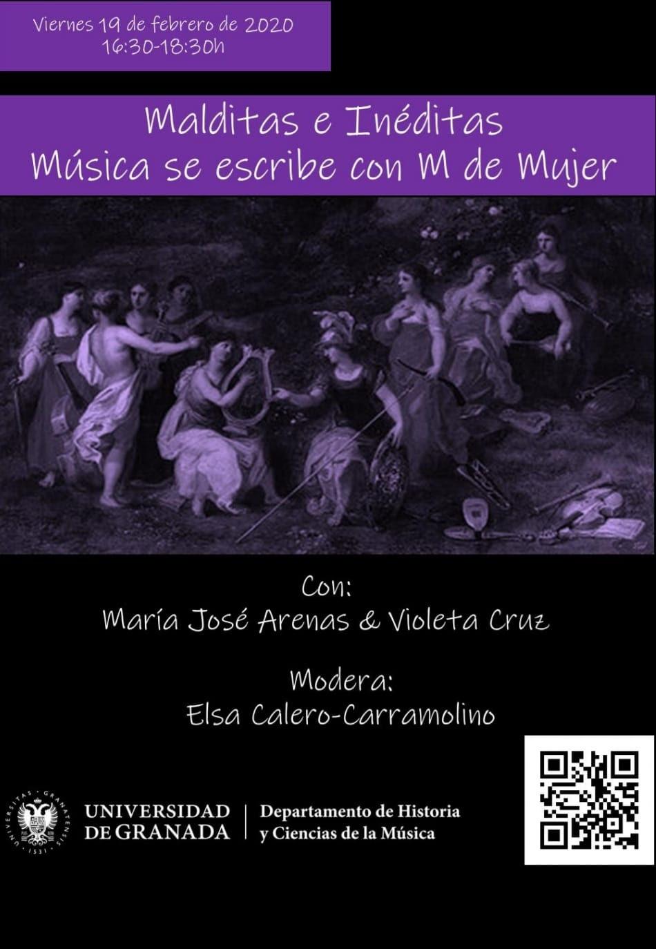 """El encuentro """"Malditas e inéditas"""" de la UGR reivindica la presencia de las mujeres en la historia de la música"""