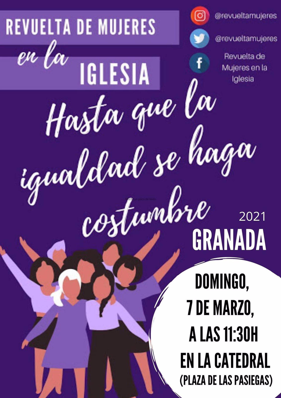 Mujeres cristianas se movilizan en Granada el 7 de marzo para reclamar igualdad en la Iglesia