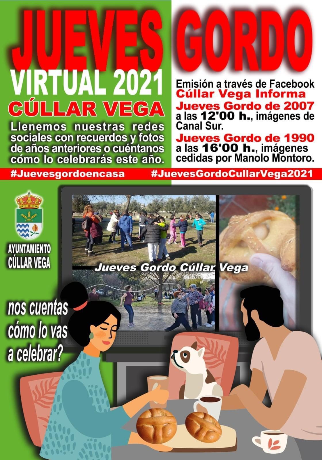 Cúllar Vega invita a sus vecinos a vivir la tradición del «Jueves Gordo» desde sus casas