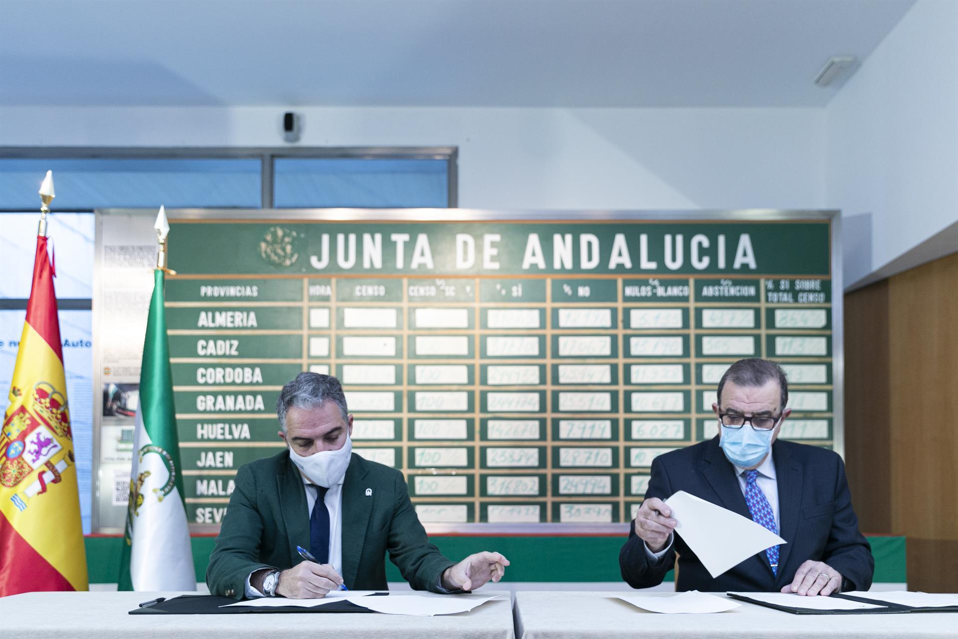 La Junta firma con Rodríguez de la Borbolla un convenio para finalizar la digitalización del archivo del expresidente