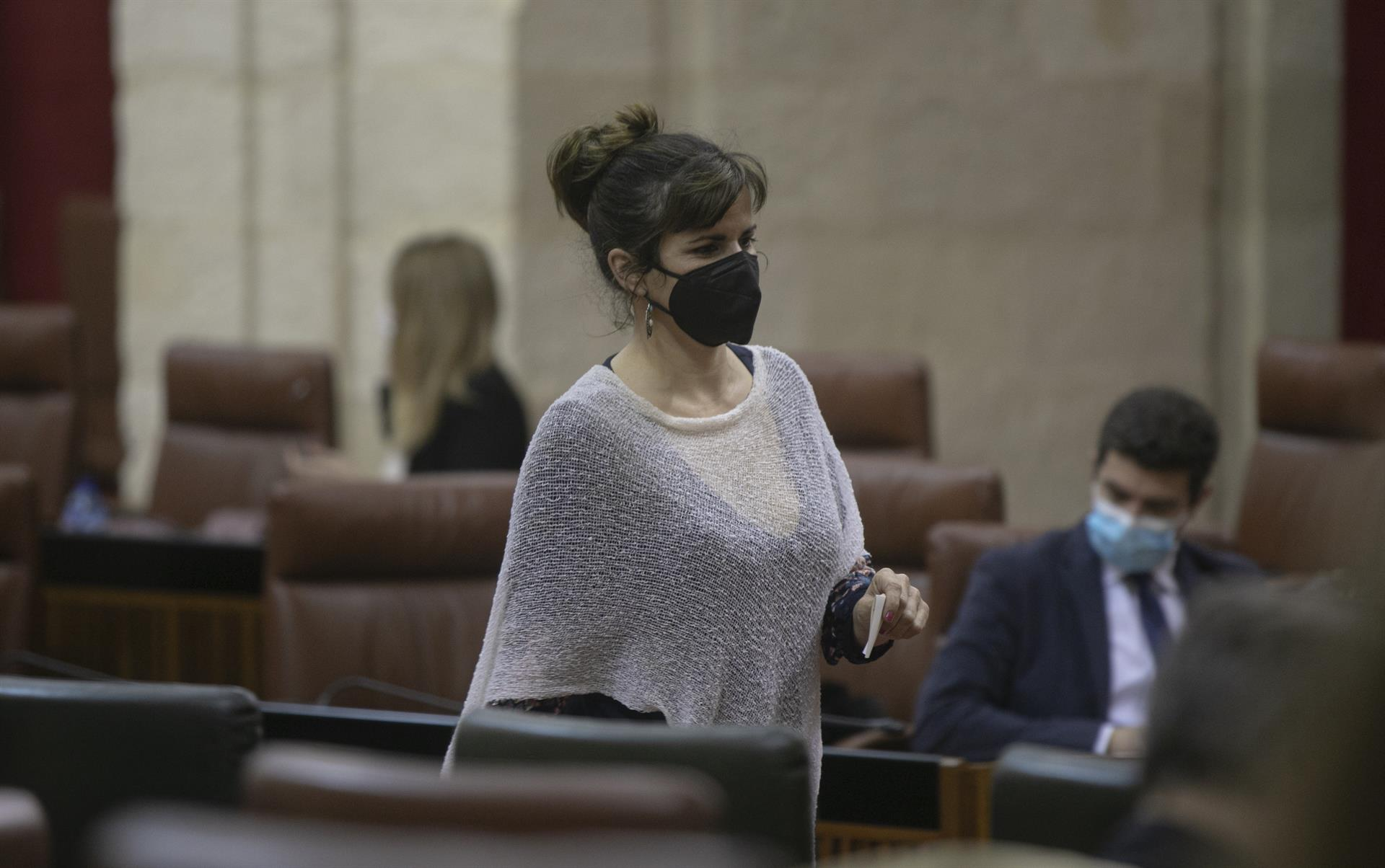 Teresa Rodríguez urge a la Junta a retirar su anuncio del 28F que «ignora» la bandera y el «dialecto» andaluz