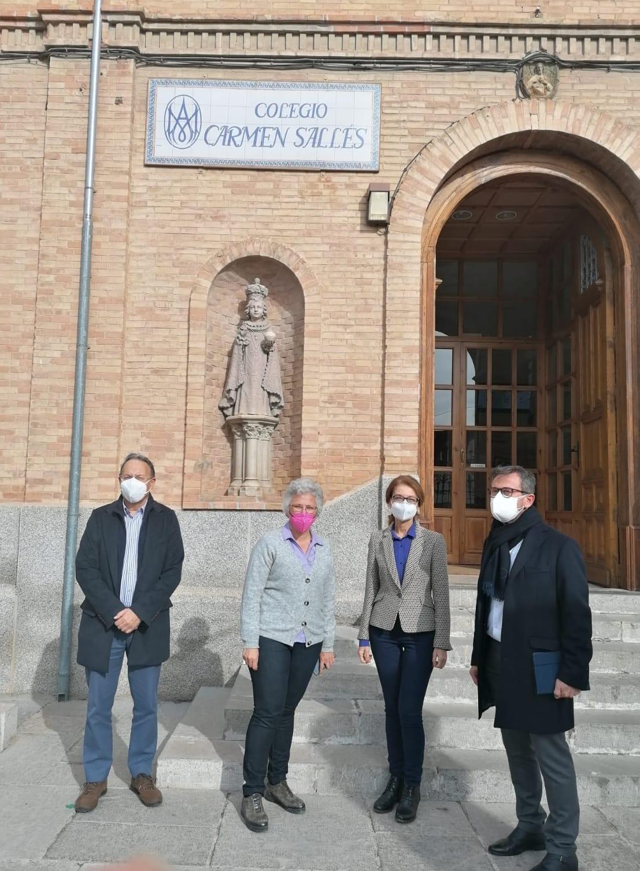 Los delegados de Educación y Turismo visitan Santa Fe con motivo de la actividad sísmica de los últimos días