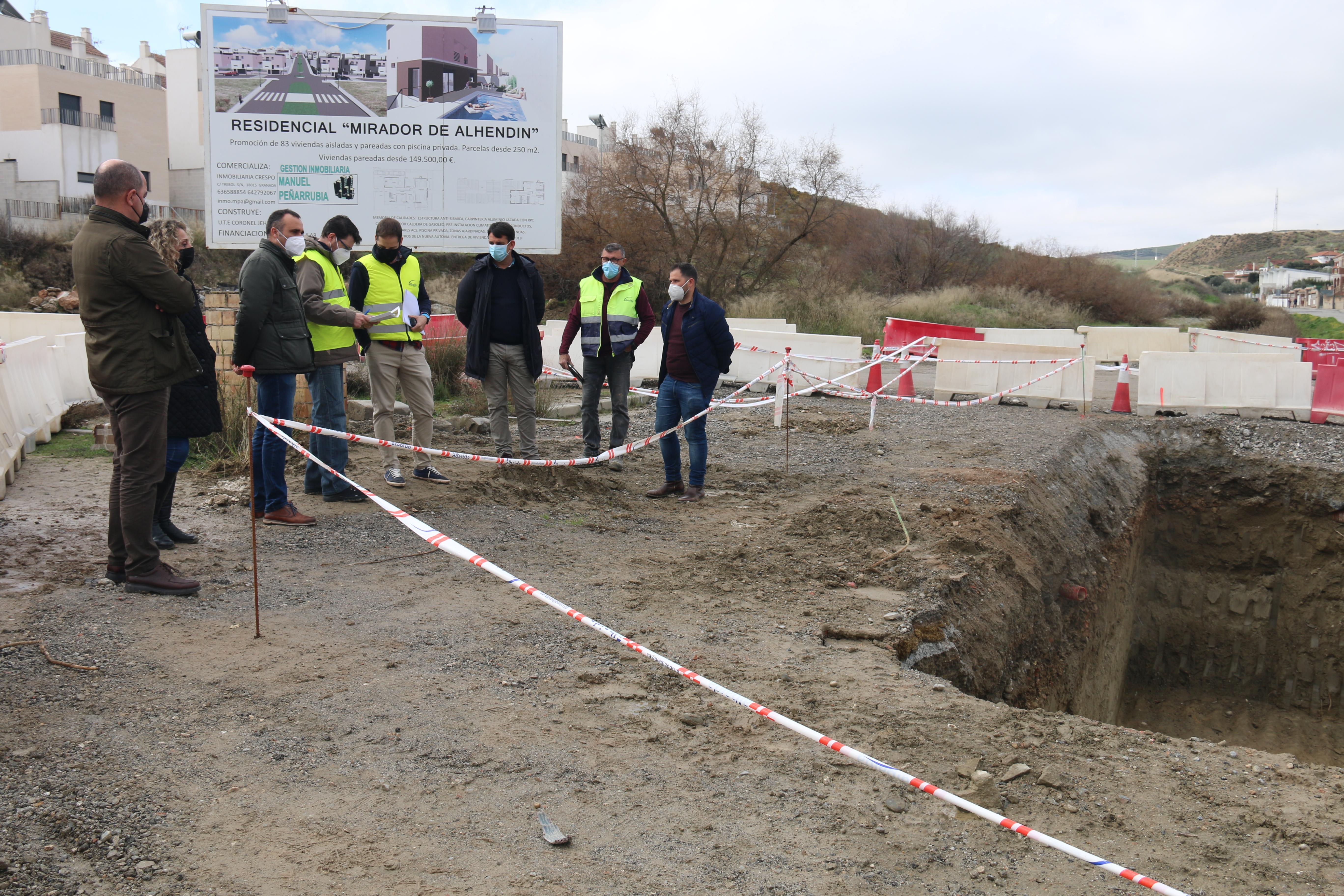 Alhendín reconduce el cauce del Barranco de El Arenal para evitar inundaciones