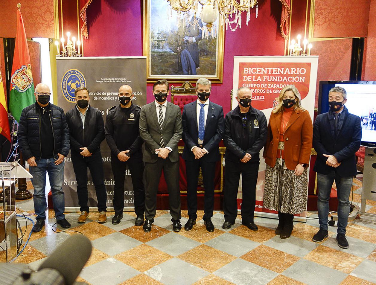 Granada celebra el bicentenario de la creación del cuerpo de bomberos