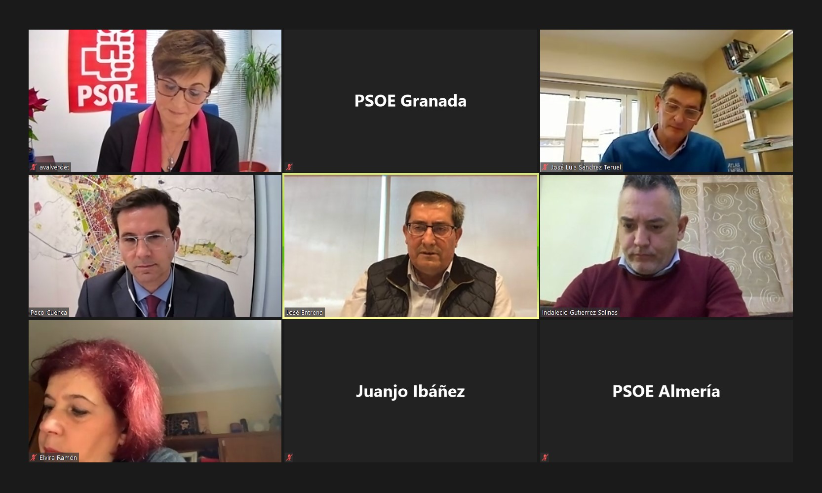El PSOE de Granada y Almería se coordinan en defensa del Corredor Mediterráneo