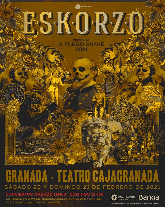 Eskorzo celebra hoy y mañana en CajaGranada un cuarto de siglo en los escenariospresentando «a Fuego suave»