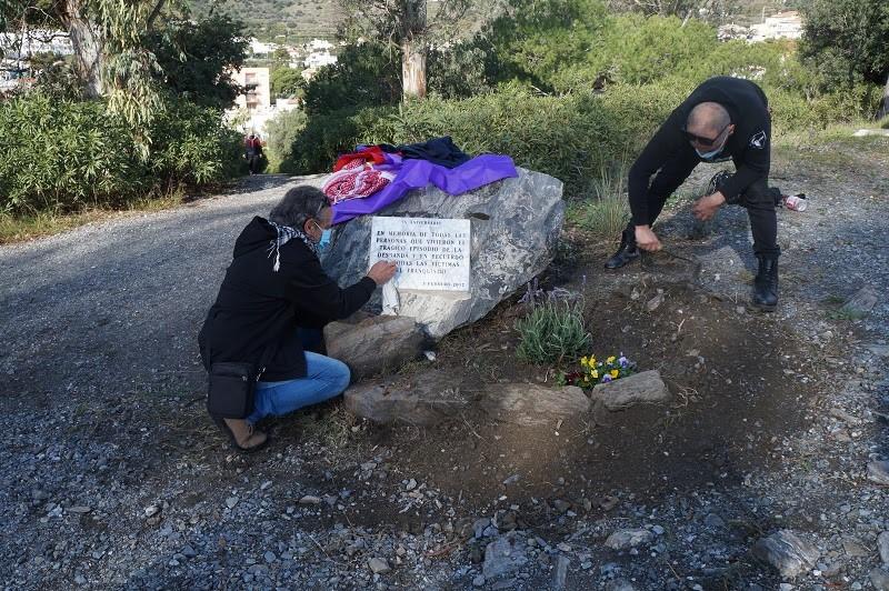 Homenaje a las víctimas de los crímenes de la Desbandá