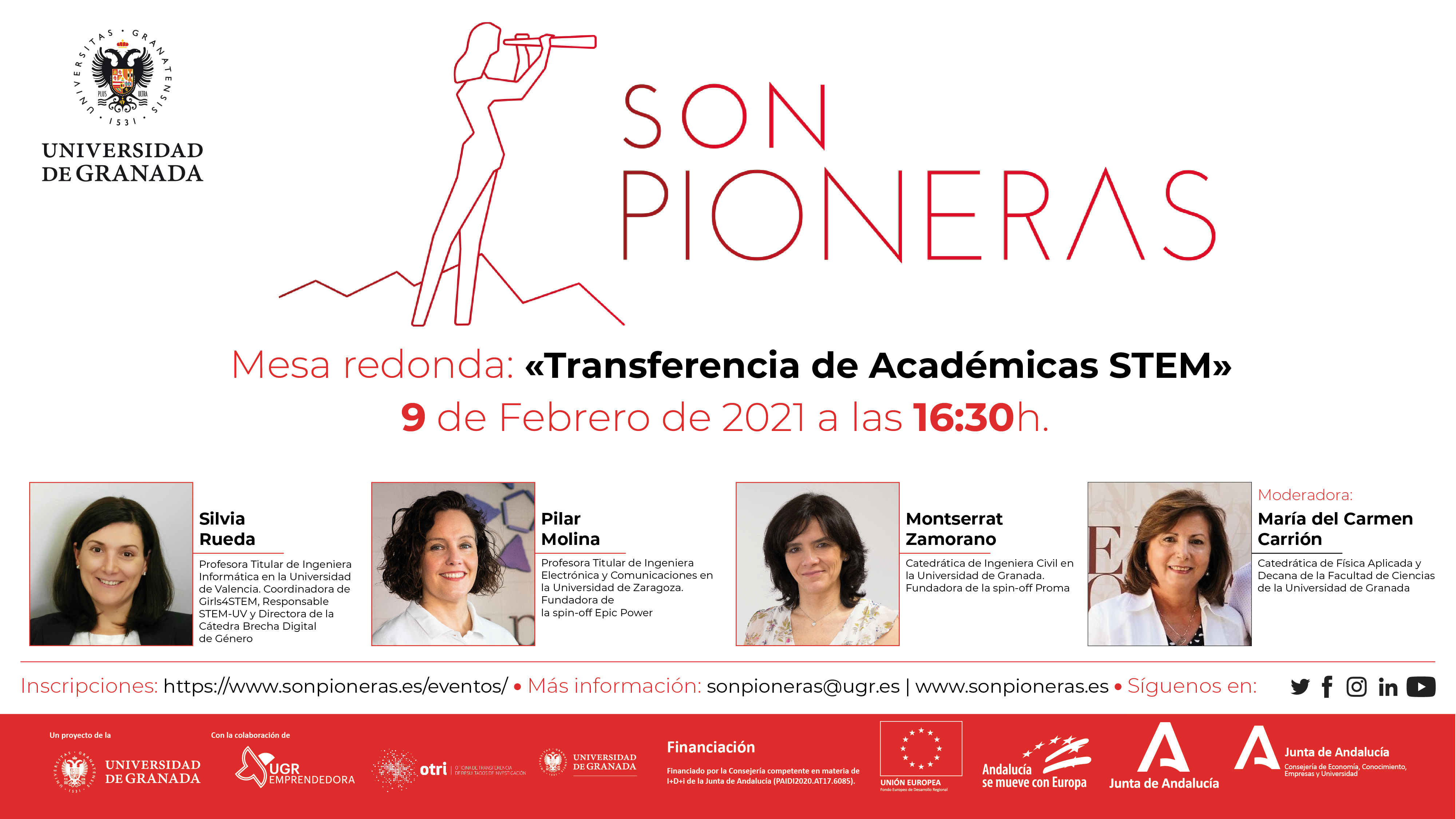 """""""Son Pioneras"""" reúne a expertas en STEM, en el encuentro virtual """"Mujer, Ciencia y Transferencia"""""""