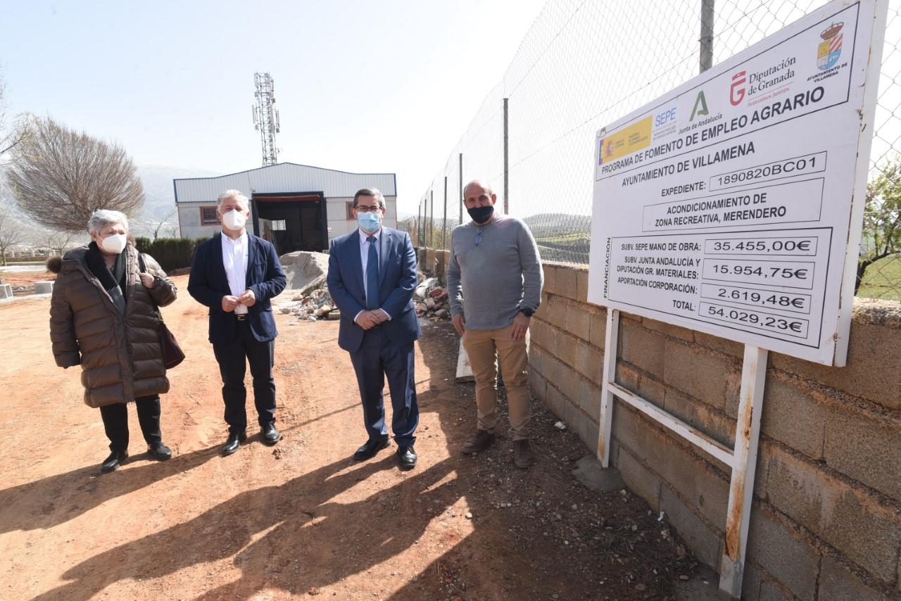 Diputación invierte 450.000 euros en el acerado de una carretera en Villamena