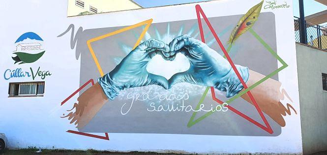 Cs aplaude la realización del mural que homenajea a los sanitarios en Cúllar Vega