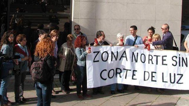 """Podemos-IU exige """"acciones reales"""" para frenar los cortes de luz en Norte"""