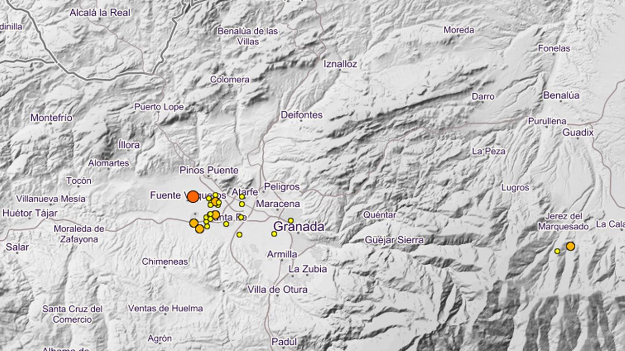 Se siguen produciendo terremotos de baja intensidad en la provincia en las últimas horas