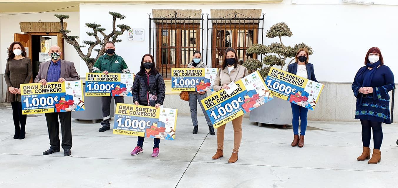 'El gran sorteo del comercio' de Cúllar Vega inyecta más de 57.000 euros en las tiendas locales