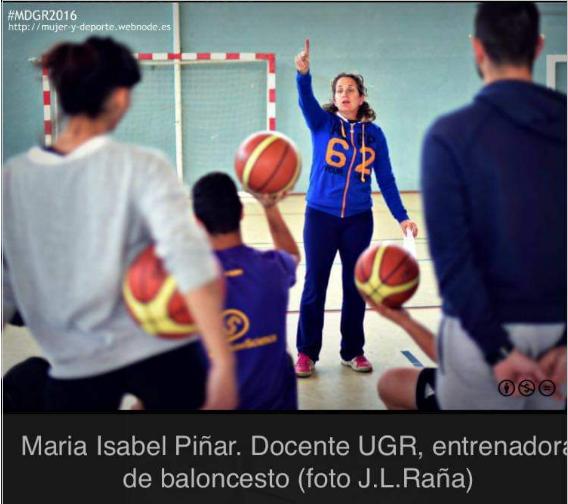 La profesora de la UGR Isabel Piñar López, nueva entrenadora de la selección española femenina Sub18 de Baloncesto