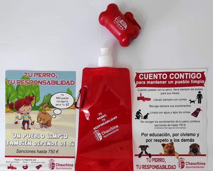 Chauchina impulsa una campaña de recogida de residuos caninos