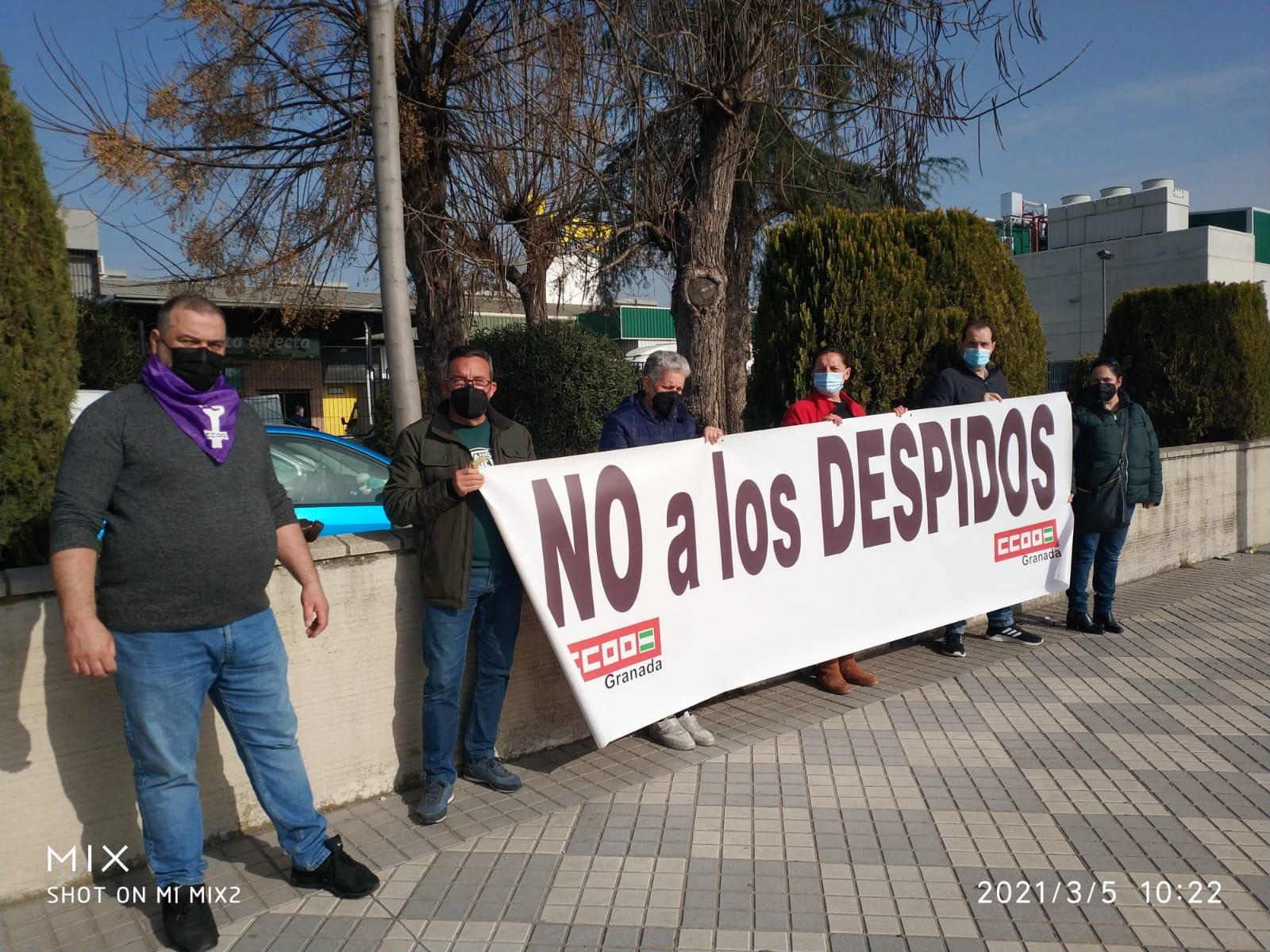 Protestan contra el despido de un trabajador en el Grupo Hermanos Payán