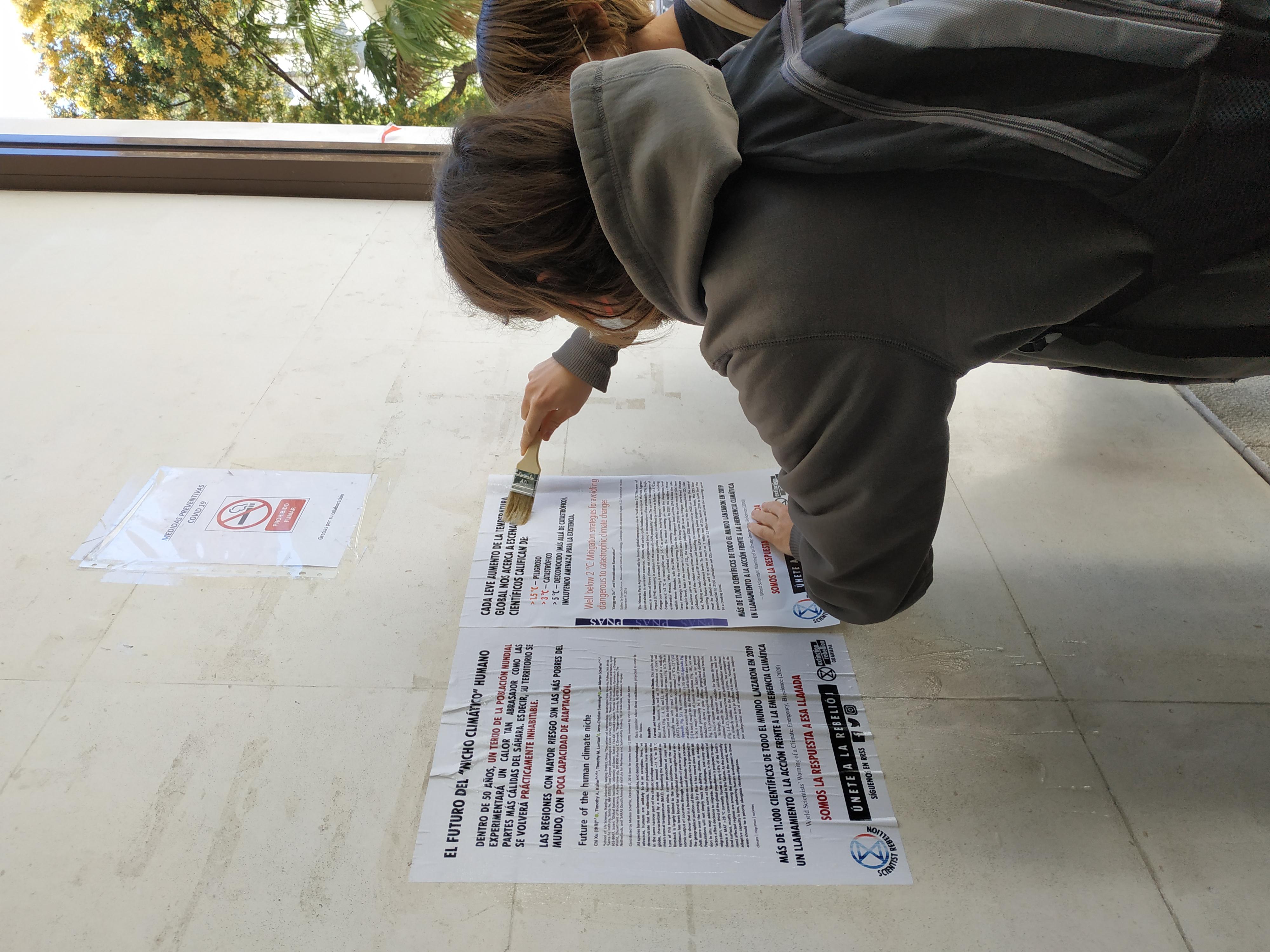Extinction Rebellion se suma a la primera rebelión científica internacional con acciones en Granada